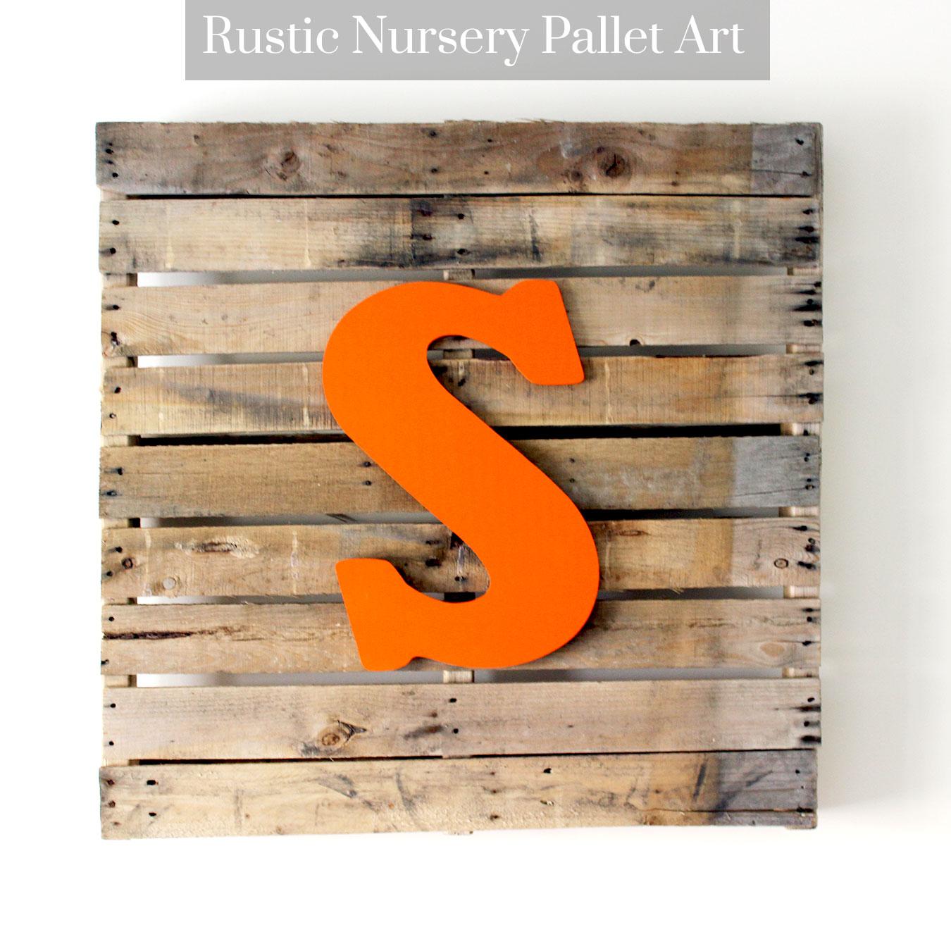 Rustic Nursery Pallet Art
