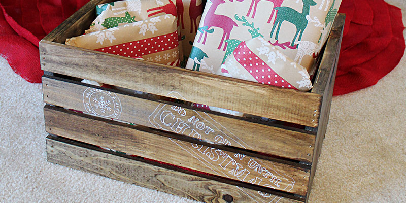 North Pole Christmas Gift Delivery Crate