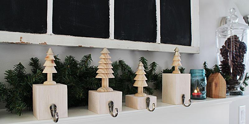 Metallic Christmas Tree Stocking Hangers