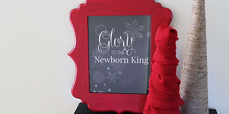 Glory Christmas Chalkboard Art Printable