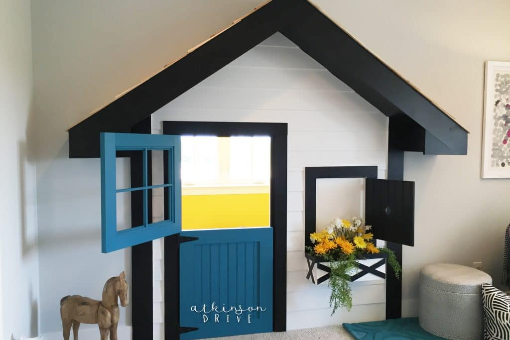 Take advantage of random alcoves in your home by making a fun clubhouse for kids!