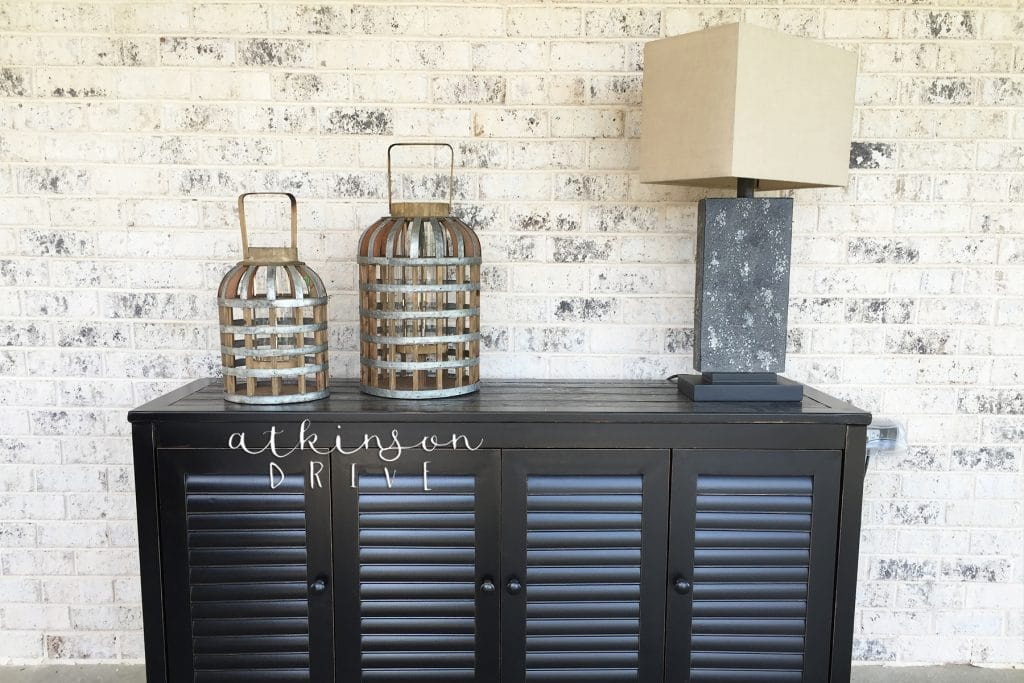 Outdoor sideboard for decoration, storage, and serving
