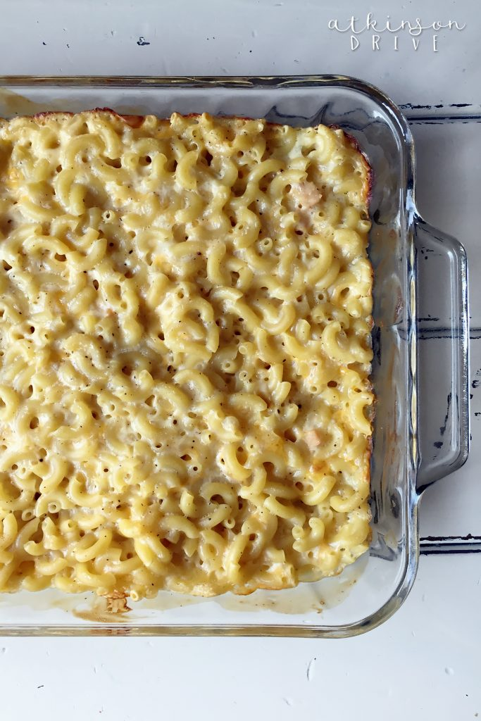 This Mac N Cheese Casserole recipe is a deliciously versatile way to make macaroni and cheese for the family!