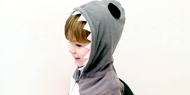 DIY No-Sew Shark Halloween Costume /// by Atkinson Drive