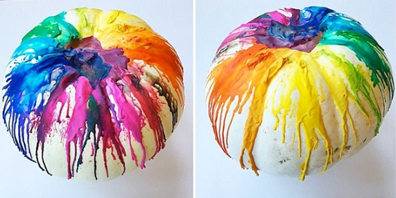 Melted Crayon Pumpkins /// Saturday Special by Atkinson Drive
