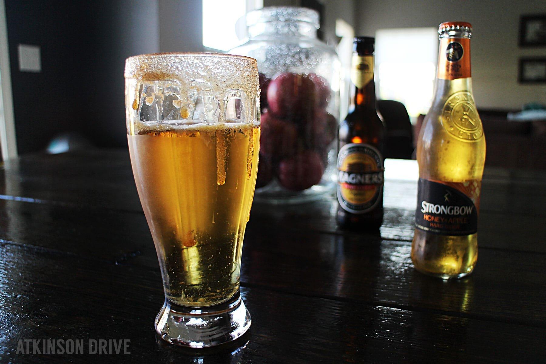 (Grown-Up) Chilled Caramel Apple Cider