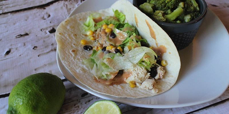 Make a delicious BBQ Ranch Chicken Taco dinner in 15 minutes or less with this simple but flavorful recipe!