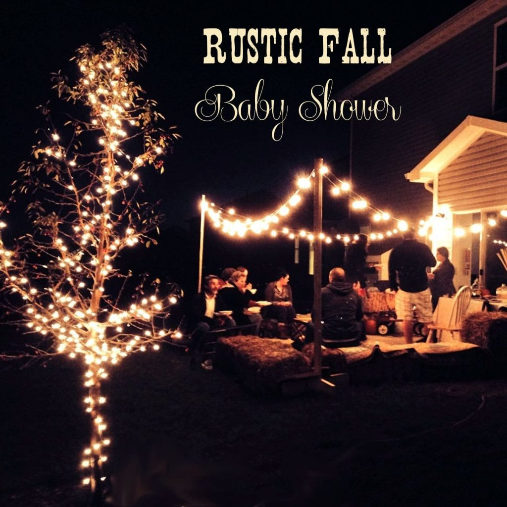 This Rustic Fall-inspired baby shower is full of great ideas! Including a parenting tips station, tasty party foods with lots of gluten free options, and a fabulous s'mores bar!