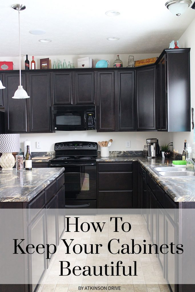 Use this one simple trick to keep the cabinets throughout your home in great condition - looking beautiful as new! // Atkinson Drive