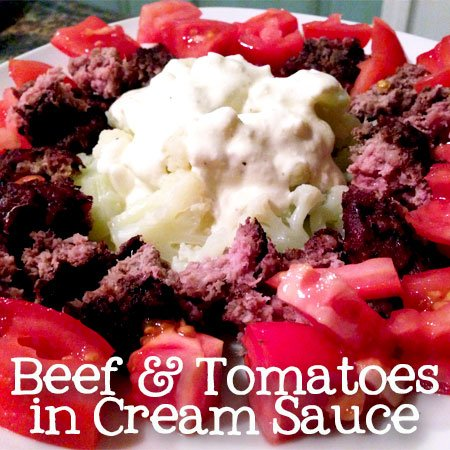 {Low-Carb} Beef & Tomatoes in Cream Sauce | Atkinson Drive