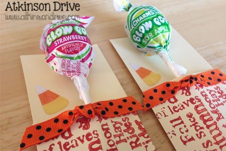 Halloween Candy Envelopes