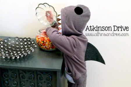 No-Sew Shark Costume