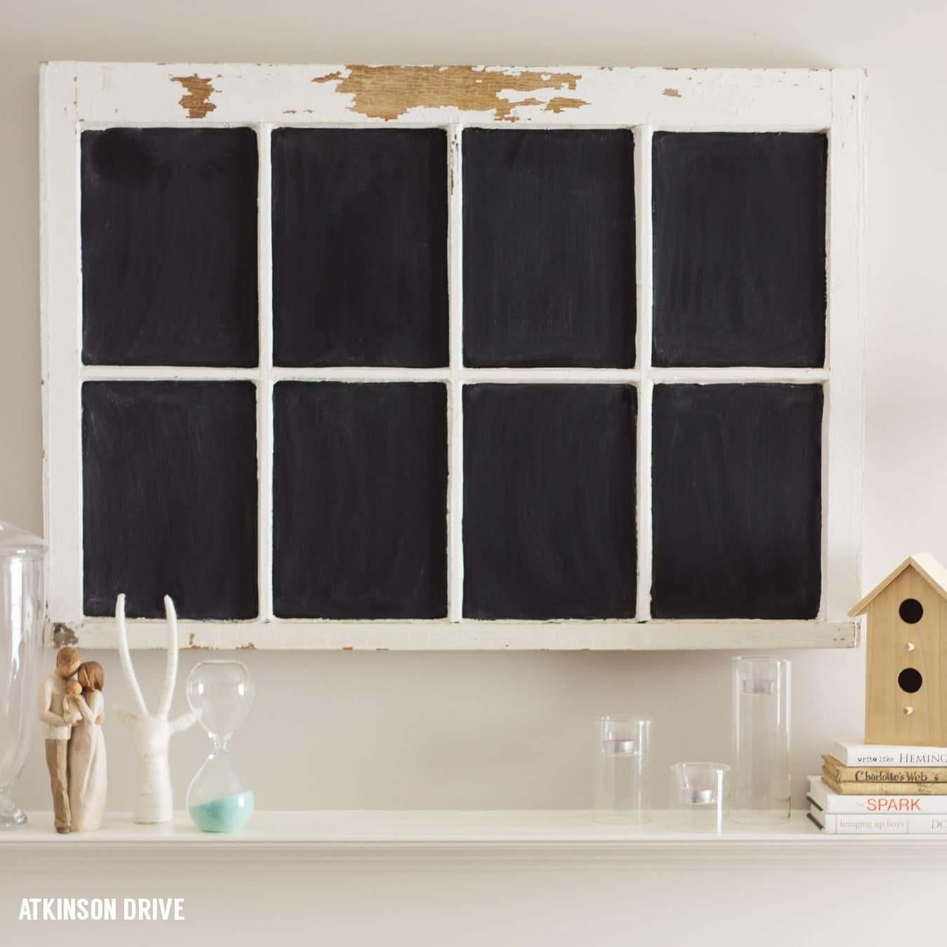 Vintage Window Chalkboard