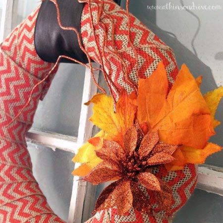 Chevron Burlap Fall Wreath | Atkinson Drive