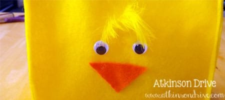 DIY Felt {Chick & Bunny} Easter Baskets | Atkinson Drive