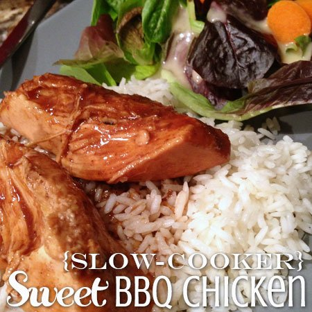 {Slow-Cooker} Sweet BBQ Chicken | Atkinson Drive