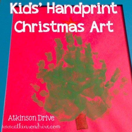 Kids' Handprint Christmas Art
