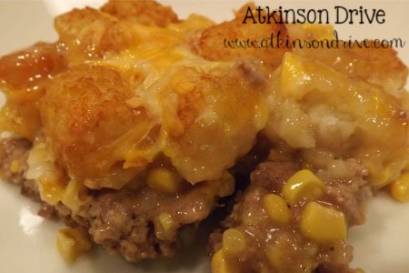 Tater Tot & Corn Casserole | Atkinson Drive
