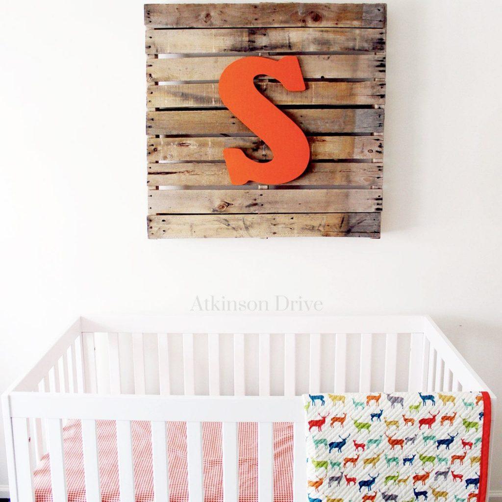Rustic Nursery Pallet Art | Atkinson Drive