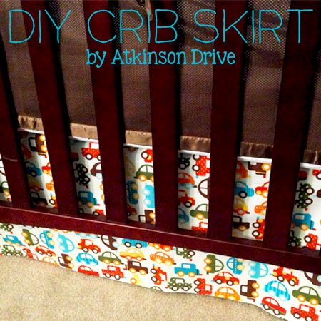 DIY {Adjustable} Crib Skirt