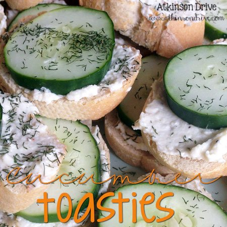 Cucumber Toasties | Atkinson Drive