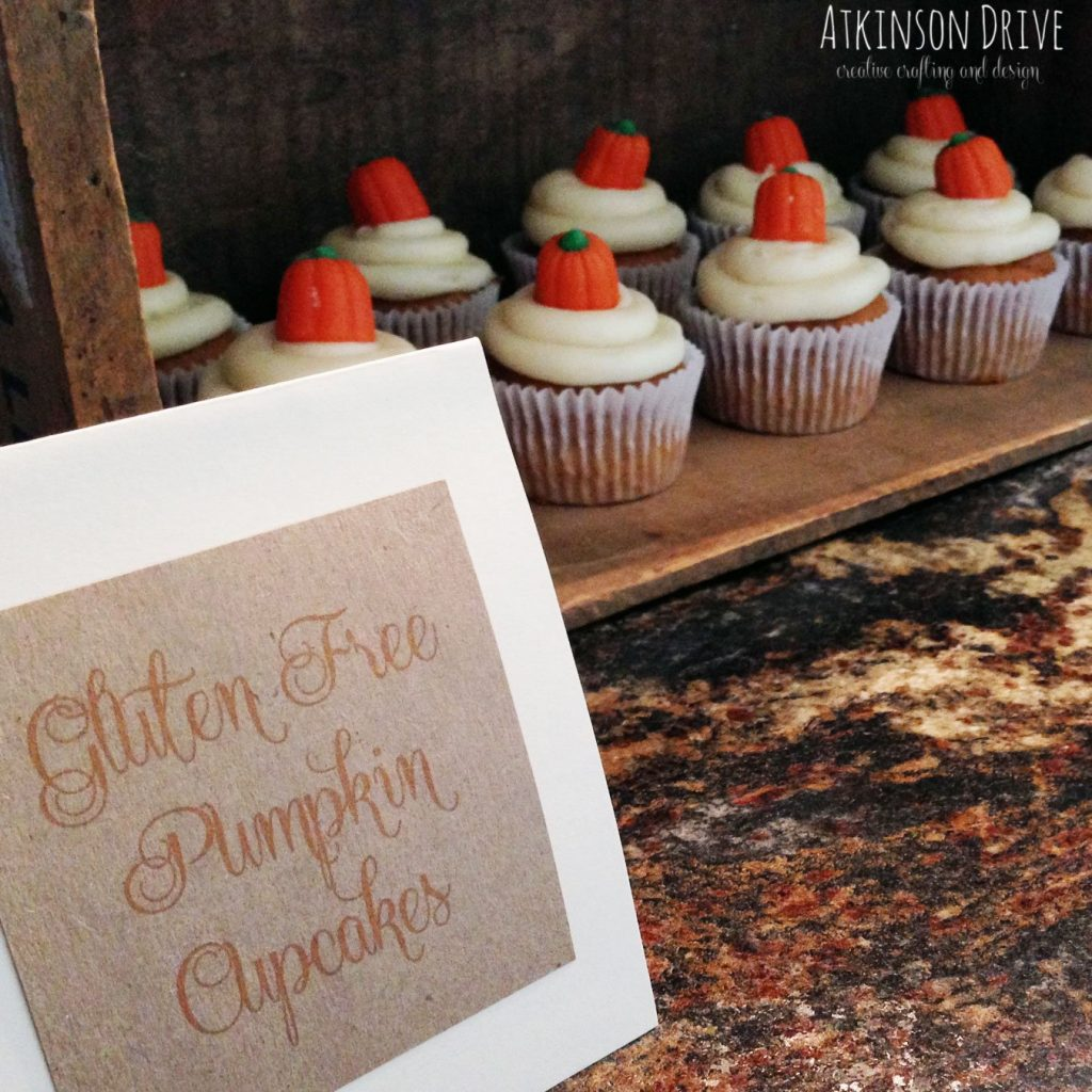 These gluten free Pumpkin Cupcakes are not only delicious, but moist and airy. Topped with cream cheese frosting, and mallow pumpkins, these cupcakes are a must try for everyone!
