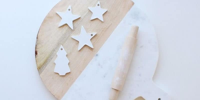 DIY simple Christmas gift tags or ornaments made out of clay