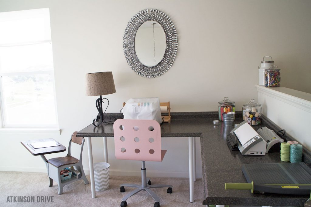 DIY Desk (using countertop pieces and IKEA desk legs) | Atkinson Drive