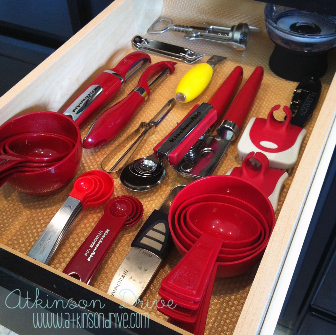No-Skid Drawer Organization
