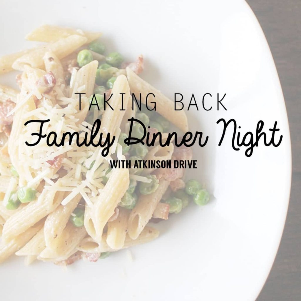 Join me in taking back Family Dinner Night! /// Easy Dinner Recipes