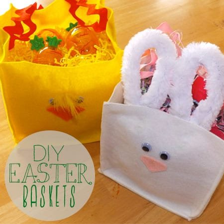DIY Felt {Chick & Bunny} Easter Baskets | Atkinson Drive