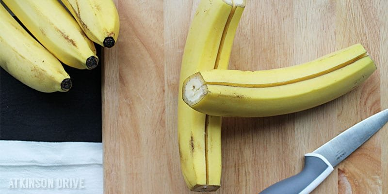 How-To: Cut & Freeze Bananas