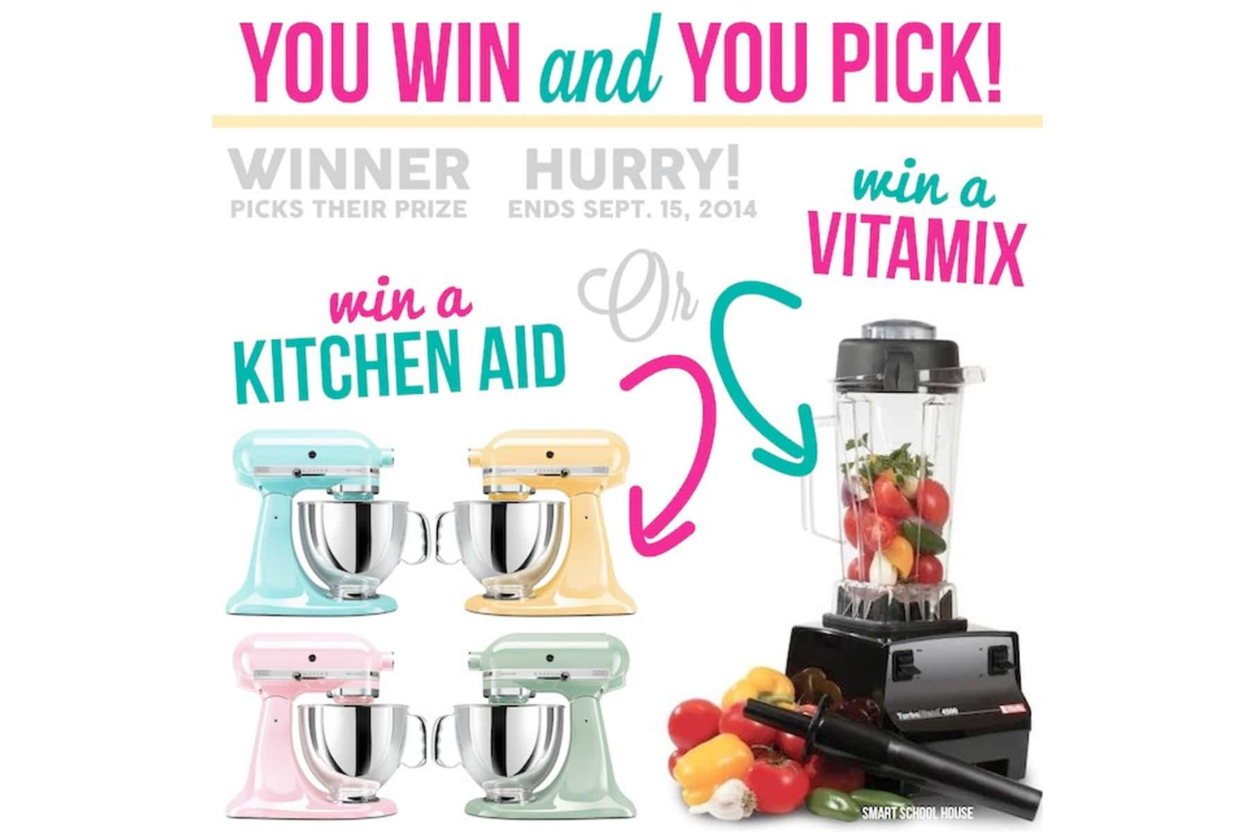 Vitamix / Kitchen-Aid Giveaway!!!!!!