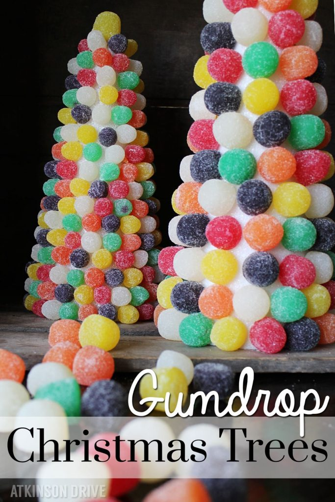 Sweeten up your holidays with these bright and colorful gumdrop Christmas trees! /// by Atkinson Drive