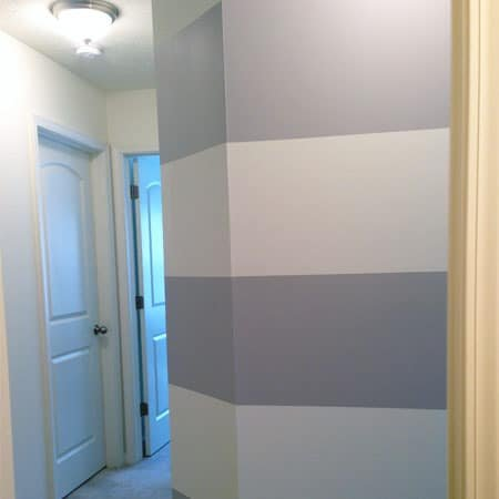 Painting Stripes in a Hallway