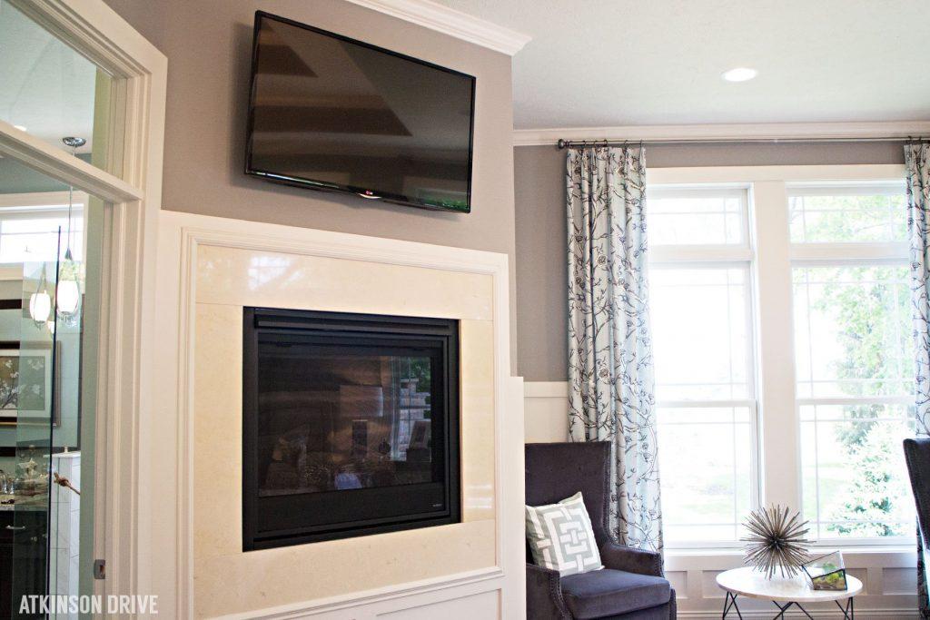 Home-a-Rama 2014: Master bedroom fireplace  Atkinson Drive