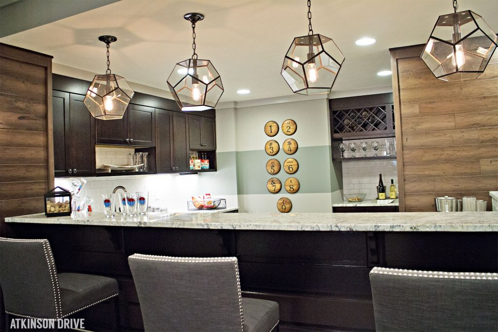 Home-a-Rama 2014: Basement bar with rustic and modern accents   Atkinson Drive
