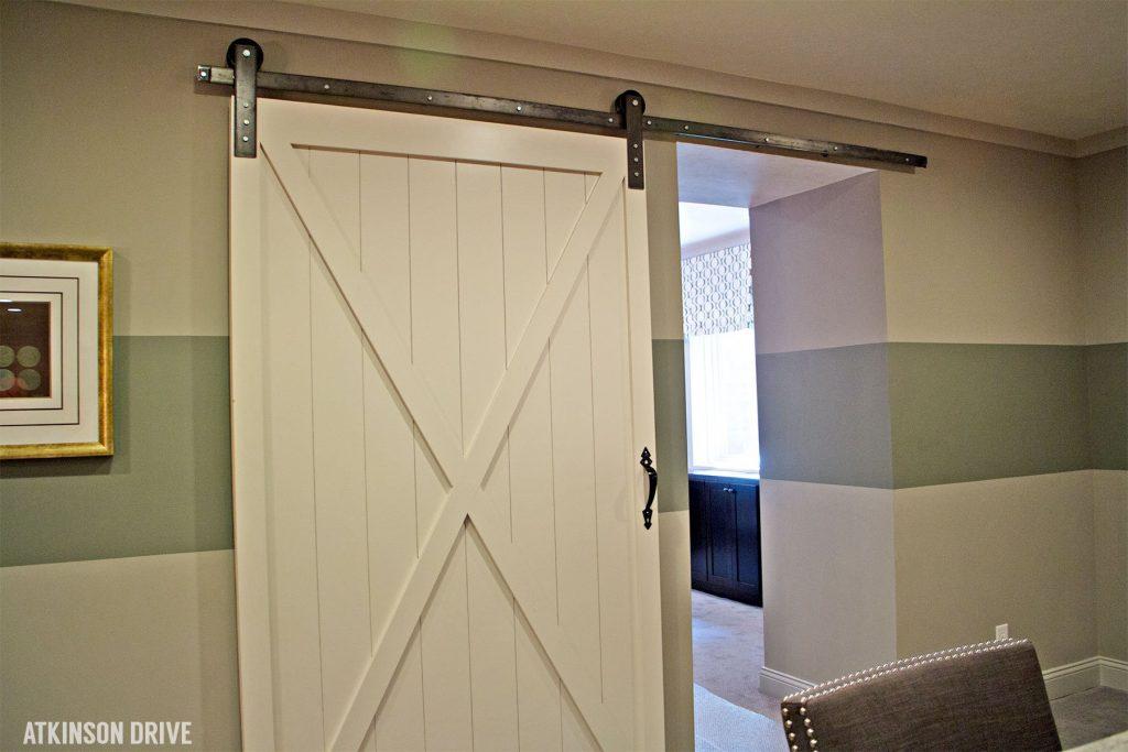 Home-a-Rama 2014: White barn door in the basement   Atkinson Drive