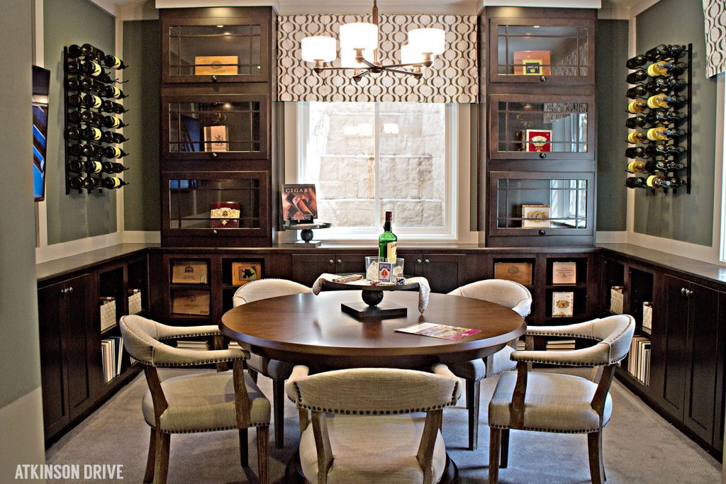 """Home-a-Rama 2014: """"Man cave"""" cigar and wine room in the basement   Atkinson Drive"""