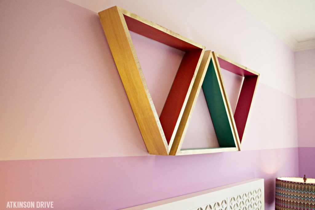 Home-a-Rama 2014: Colorful geometric art in a little girl's room   Atkinson Drive