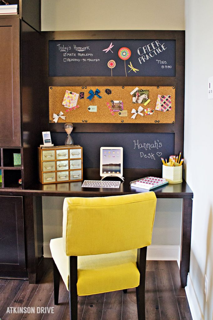 Home-a-Rama 2014: Homework area with chalk and cork boards   Atkinson Drive
