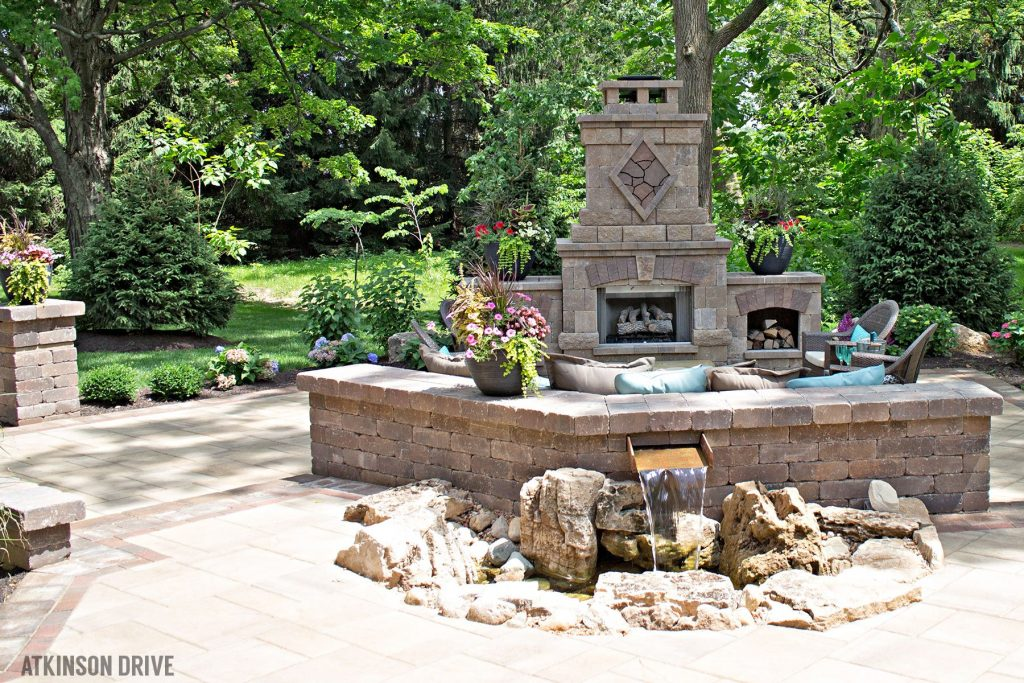 Home-a-Rama 2014: Outdoor patio with fire and water features   Atkinson Drive