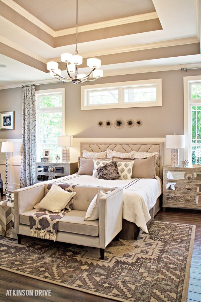 Home-a-Rama 2014: Light and neutral master bedroom    Atkinson Drive