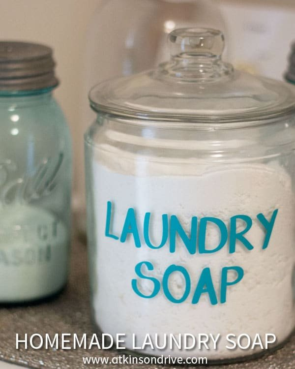 Save hundreds of dollars each year by making your own powdered laundry soap! For about $20 I made a year's worth for my 4-person family! Try it today! /// by Atkinson Drive
