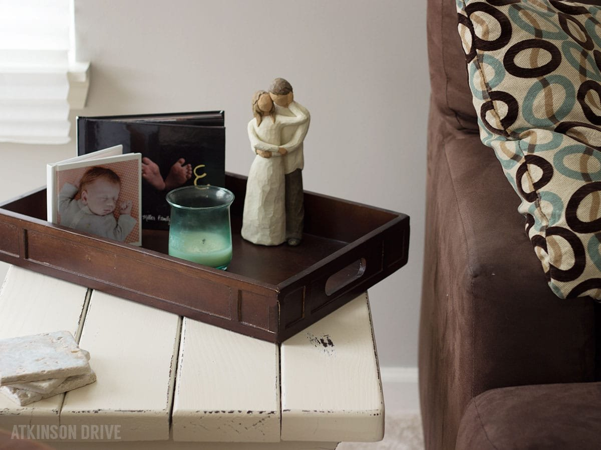 Side Table Re-Vamp {How-To Distress Furniture}