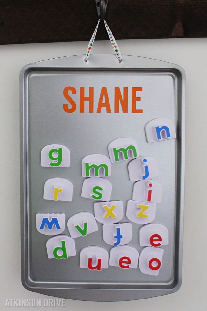 DIY Magnetic Play Board (for under $5) by Atkinson Drive