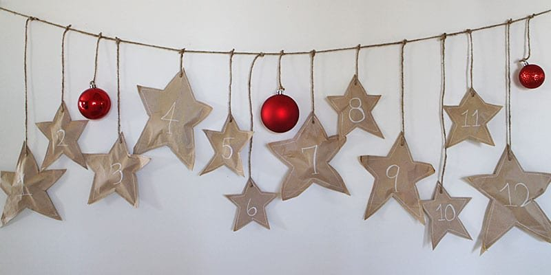 Falling Stars Paper Bag Advent Calendar