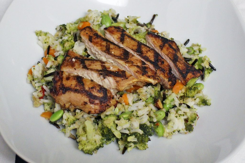 Make the perfect Summertime rice bowl for your family with this delicious recipe using Tyson and Steam Fresh!