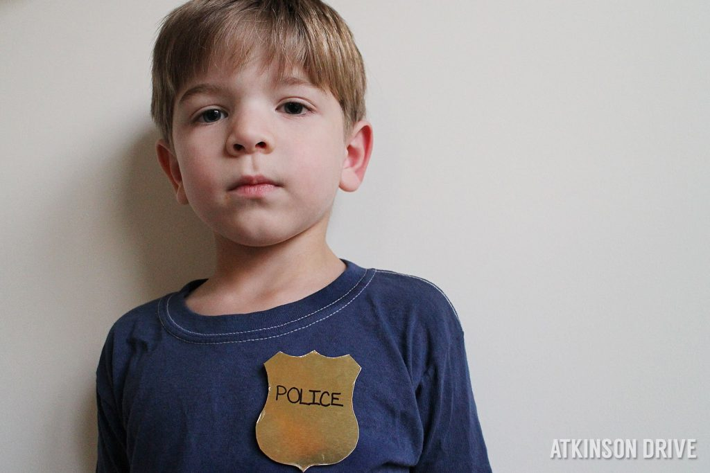 Homemade #Halloween: Police Officer #Costume by Atkinson Drive