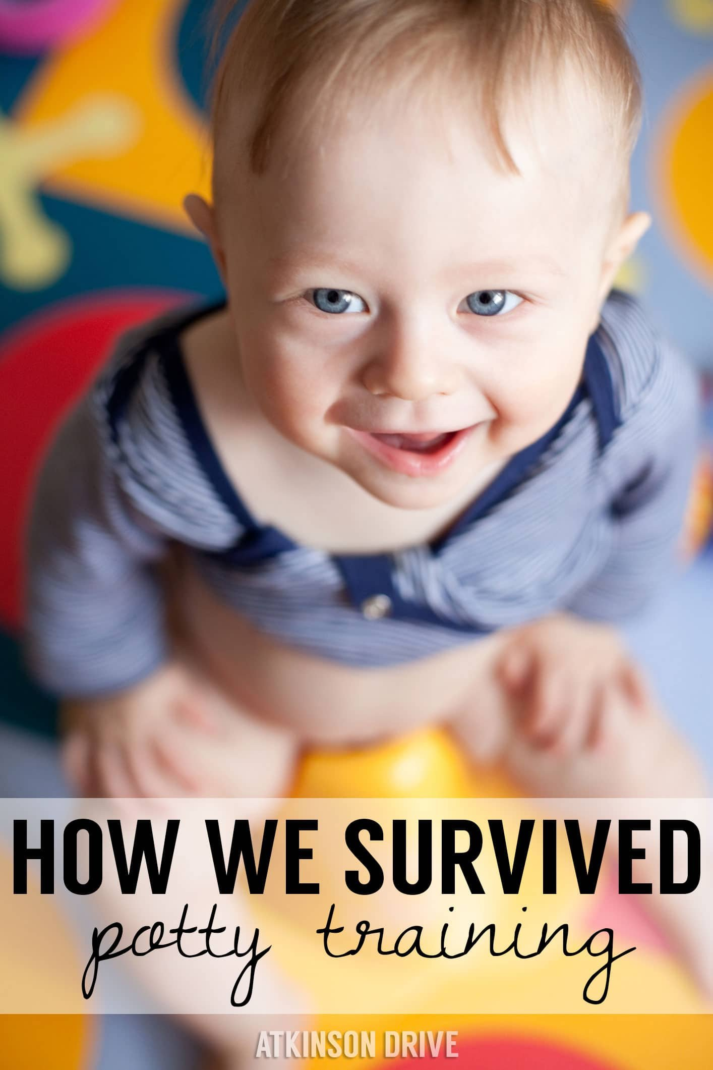 Simplify your life with these tips & tricks for how to survive that dreaded potty training time! /// by Atkinson Drive